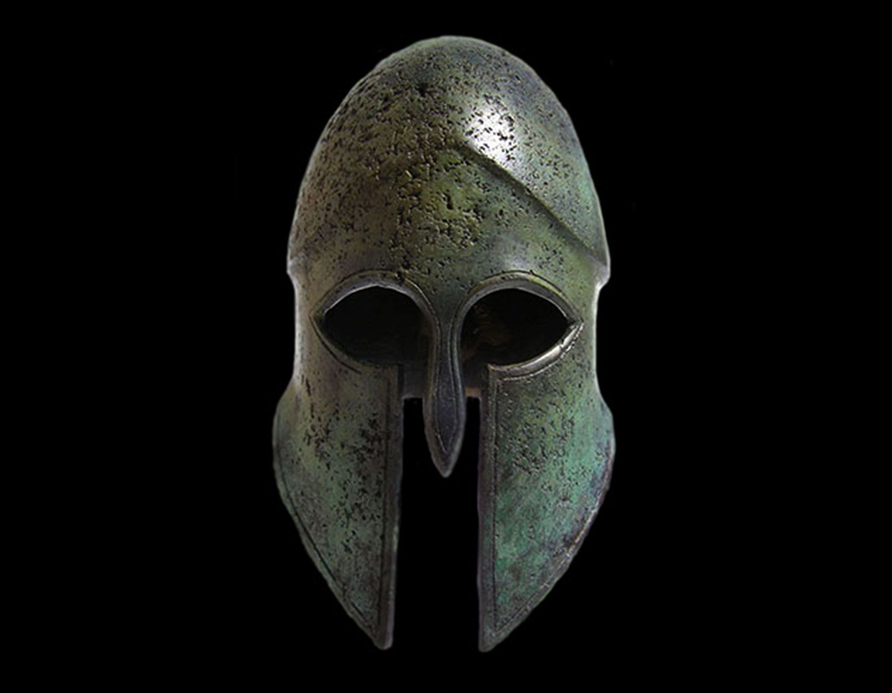A bronze Corinthian helmet, sometimes known as a Corys, from which Cortona takes its name.