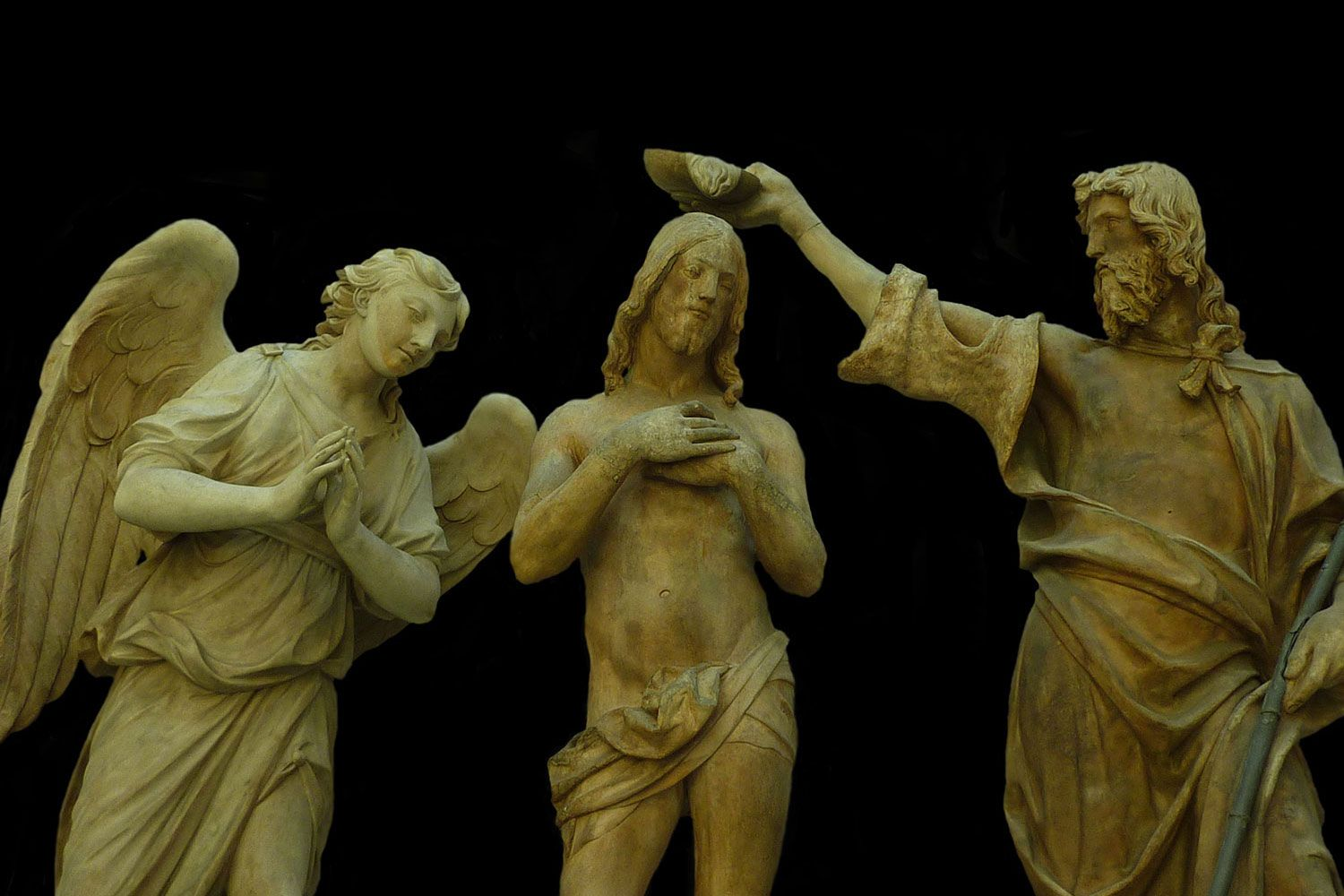 Baptism of Christ by Sansovino in Florence..