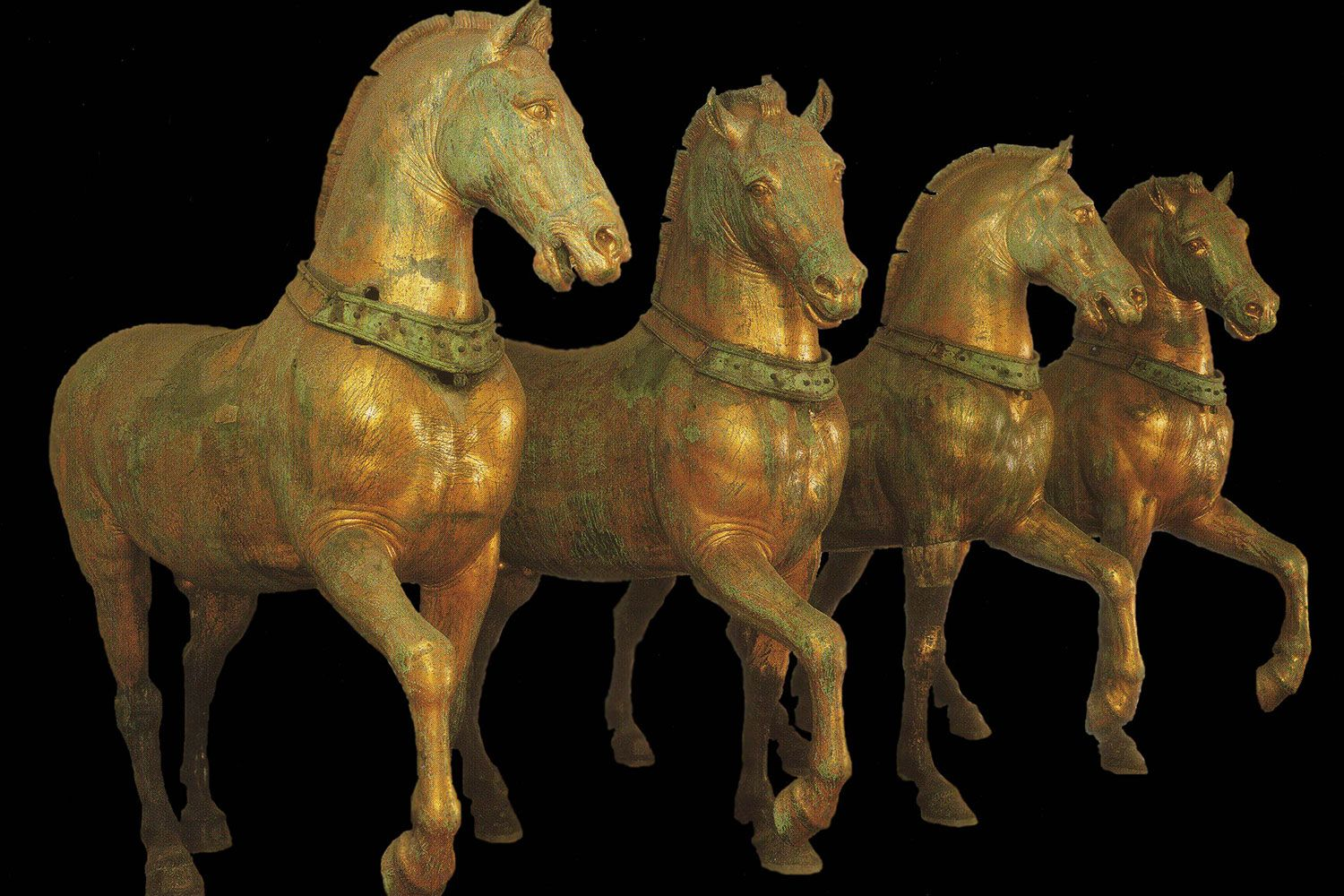 The Horses of St. Mark's in Venice, also known as the Triumphal Quadriga.
