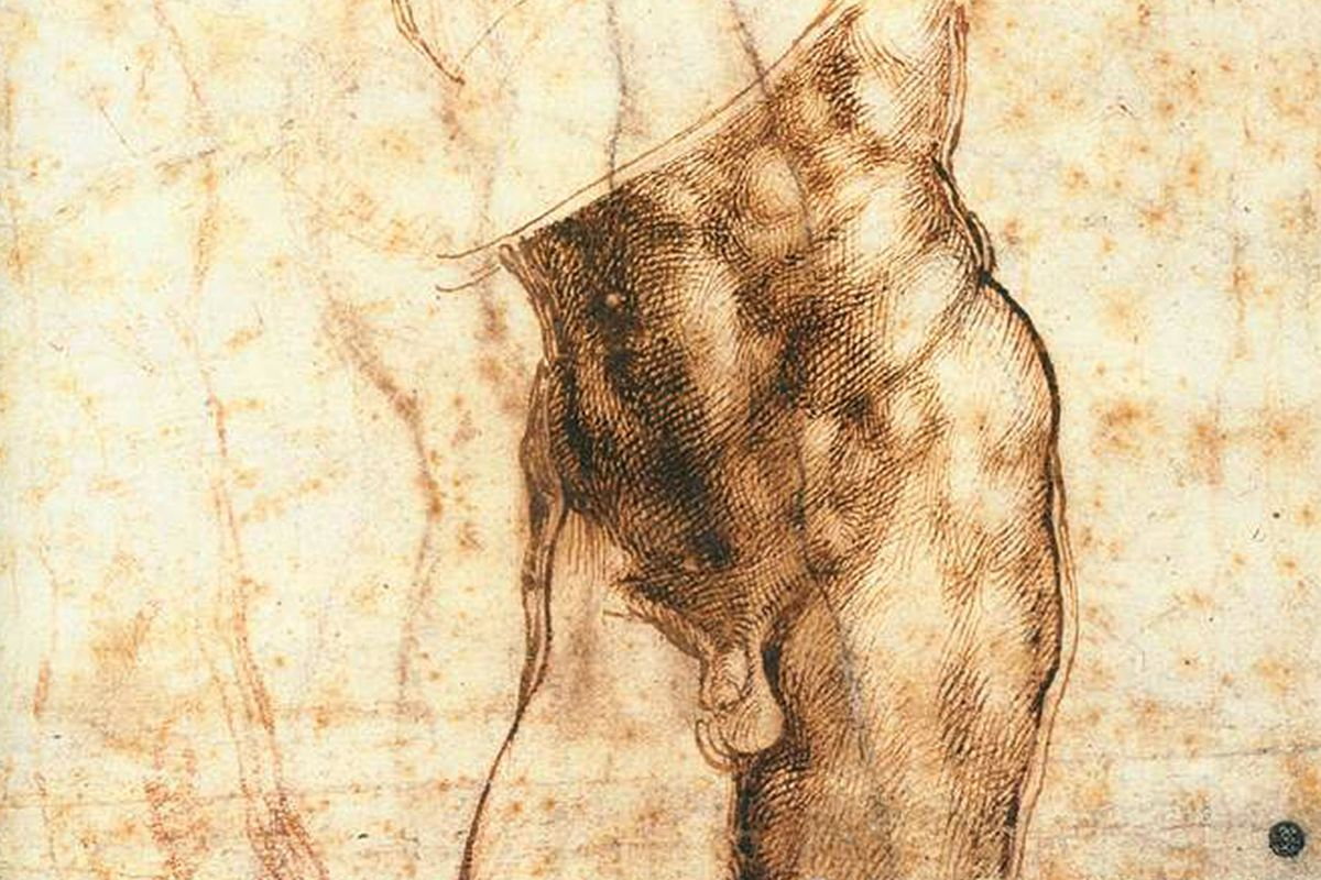 Study for Christ Risen by Michelangelo 1518-1519