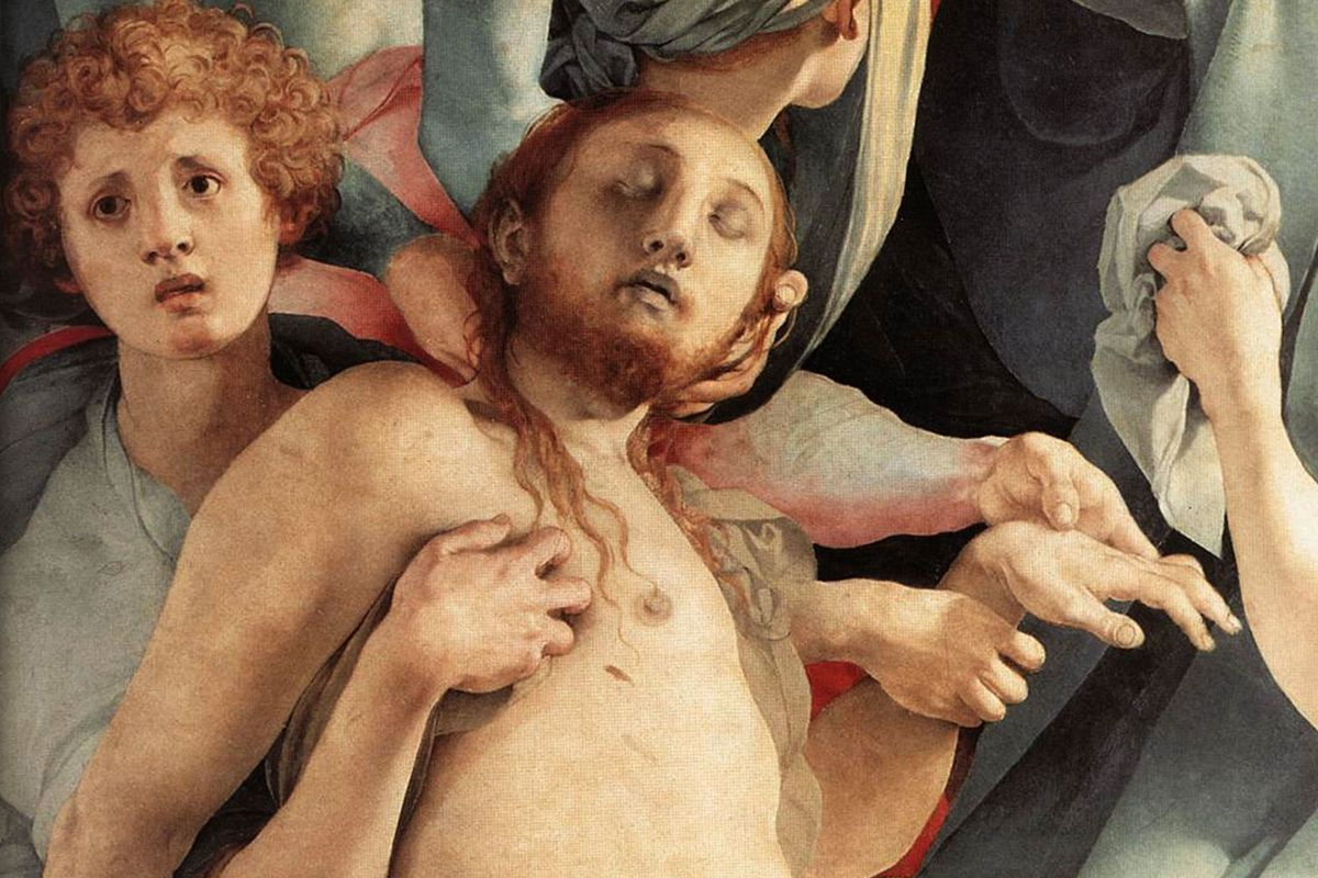 Detail of the Deposition by Pontormo in Florence