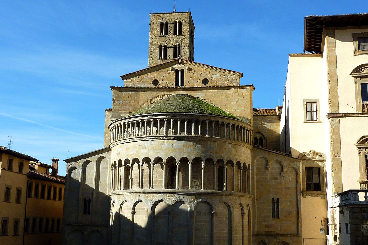 Behind the Pieve of St. Maria overlooking Piazza Grande in Arezzo