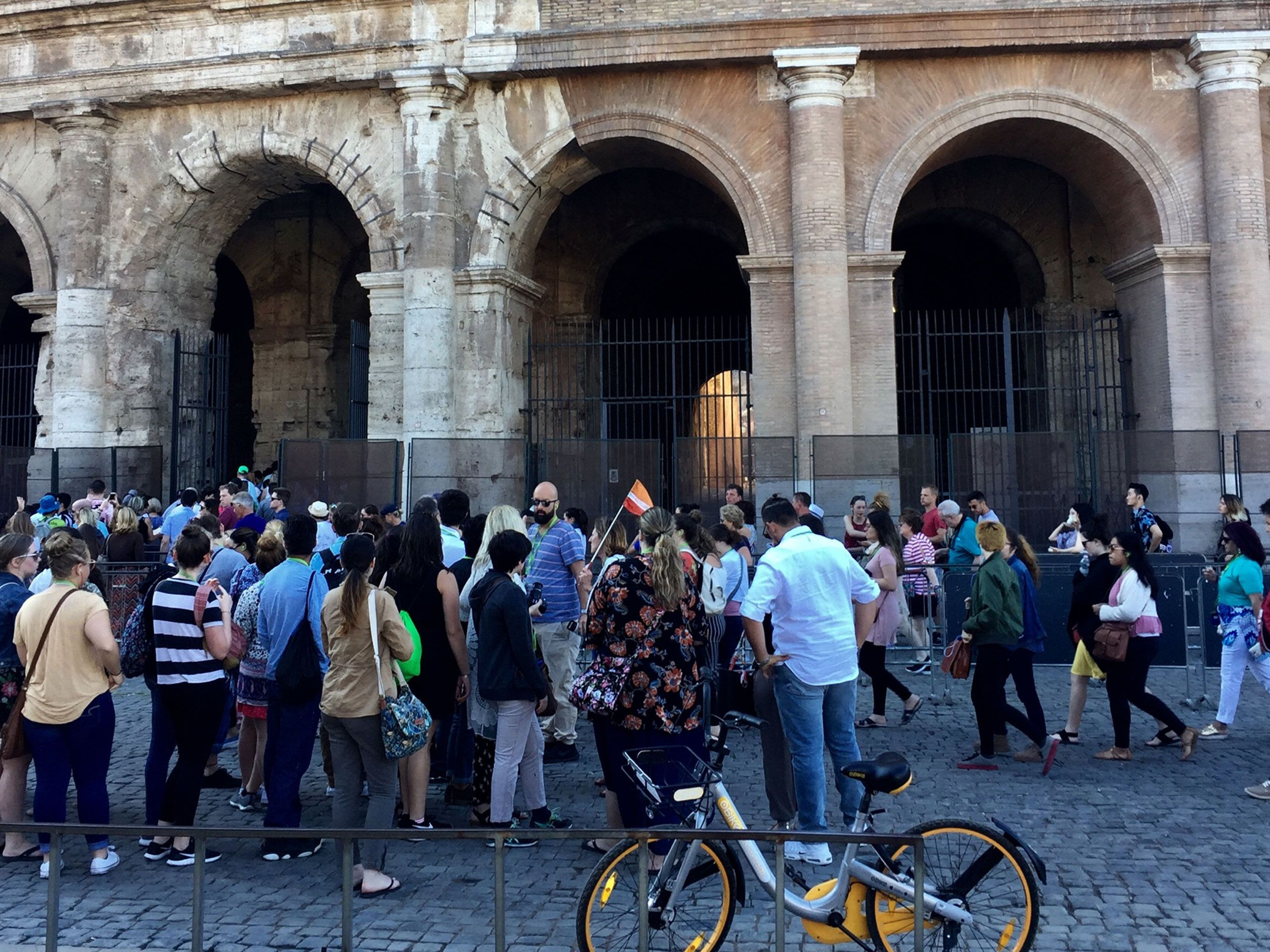 The long wait to get inside the Colosseum