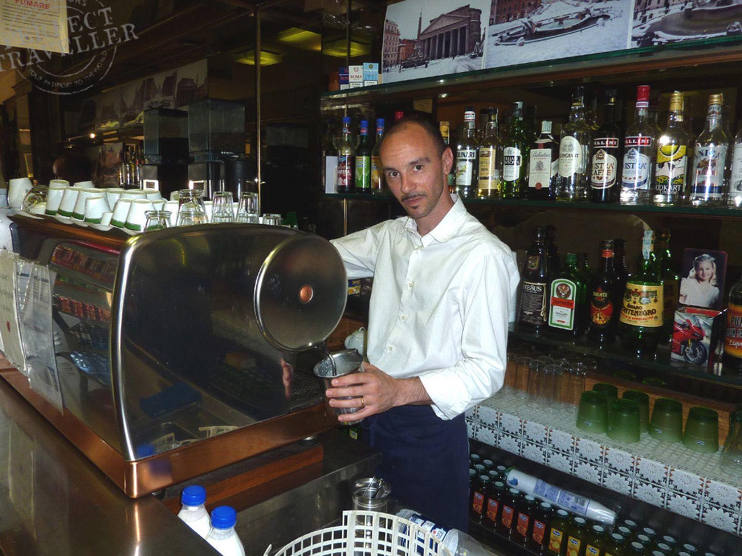 Making Coffee in Rome