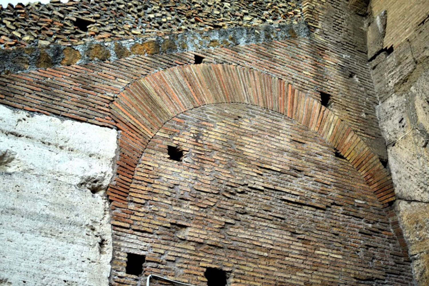 The arch was a great Roman architectural innovation