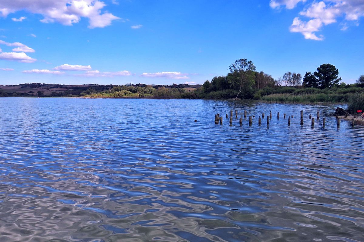 Lake Chiusi has provided fish and eels for the locals over centuries.