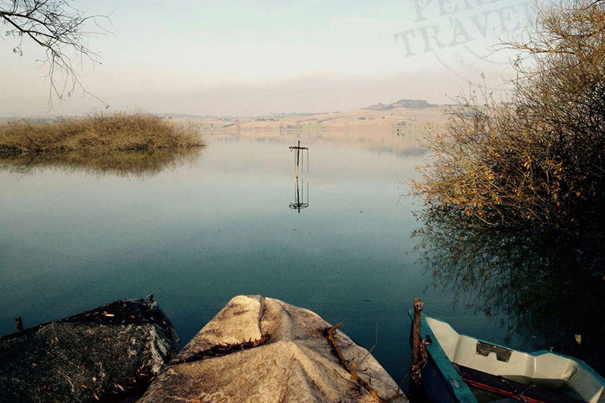 Lake Chiusi in Tuscany