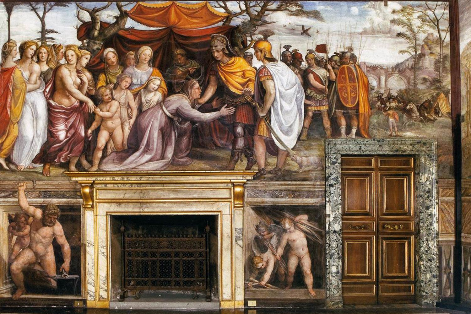 """""""The Women of Darius's Family before Alexander the Great"""" by Sodoma (c.1517). Painted as a fresco in the Villa Farnesina in Rome."""