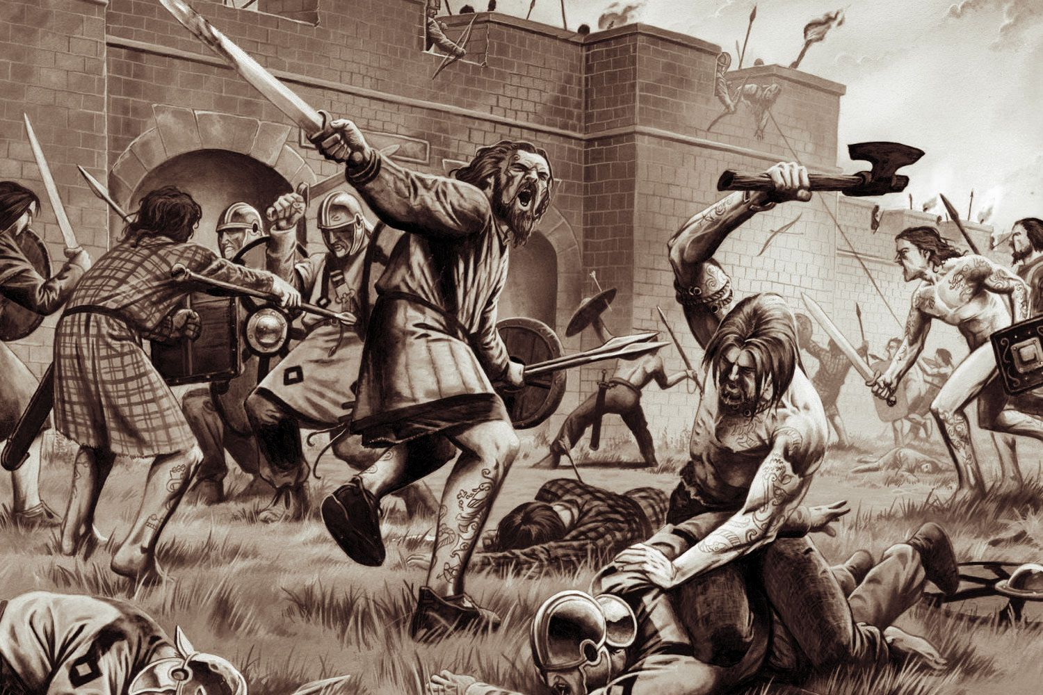 Picts attack a Milecastle on Hadrian's Wall