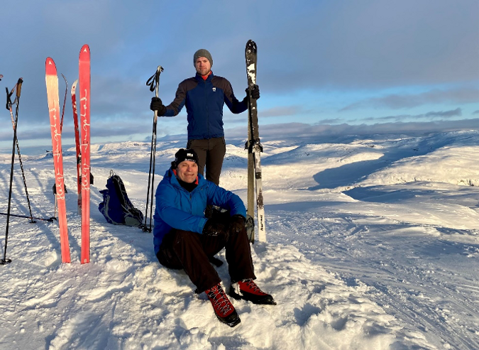 HYEX-team skiing at New Year's Day