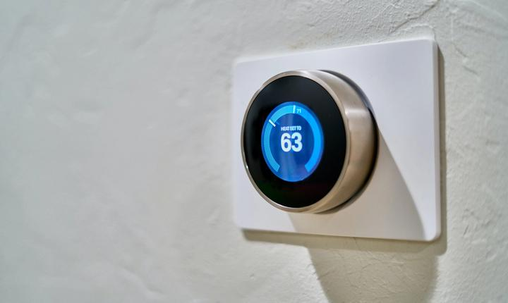 image of thermostat on a wall