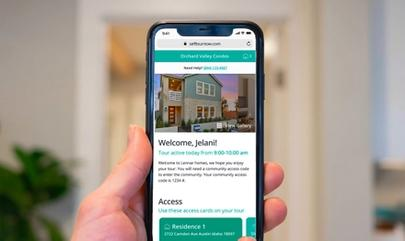 Self-Guided Tours UI Screen on Iphone