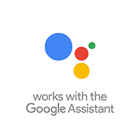 Works with the Google Assistant logo