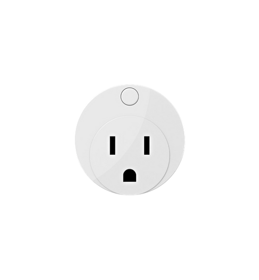Dome on/off plug front view