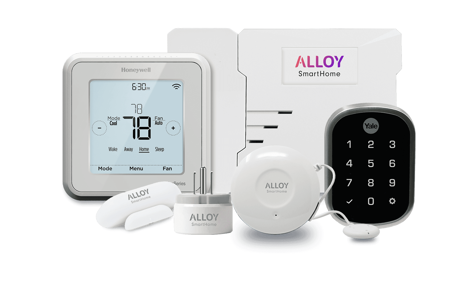 image of a variety of smart home hardware