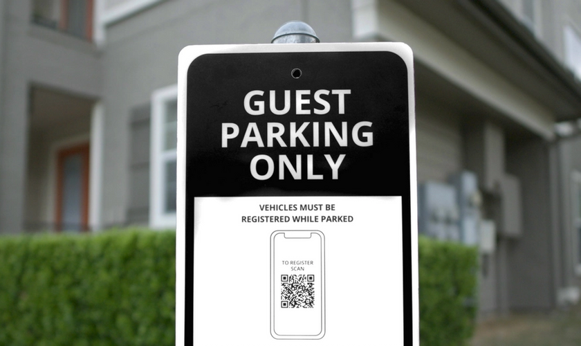 image of smartrent guest parking sign in front of property