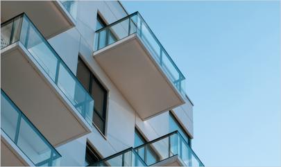 high-rise apartment building patios
