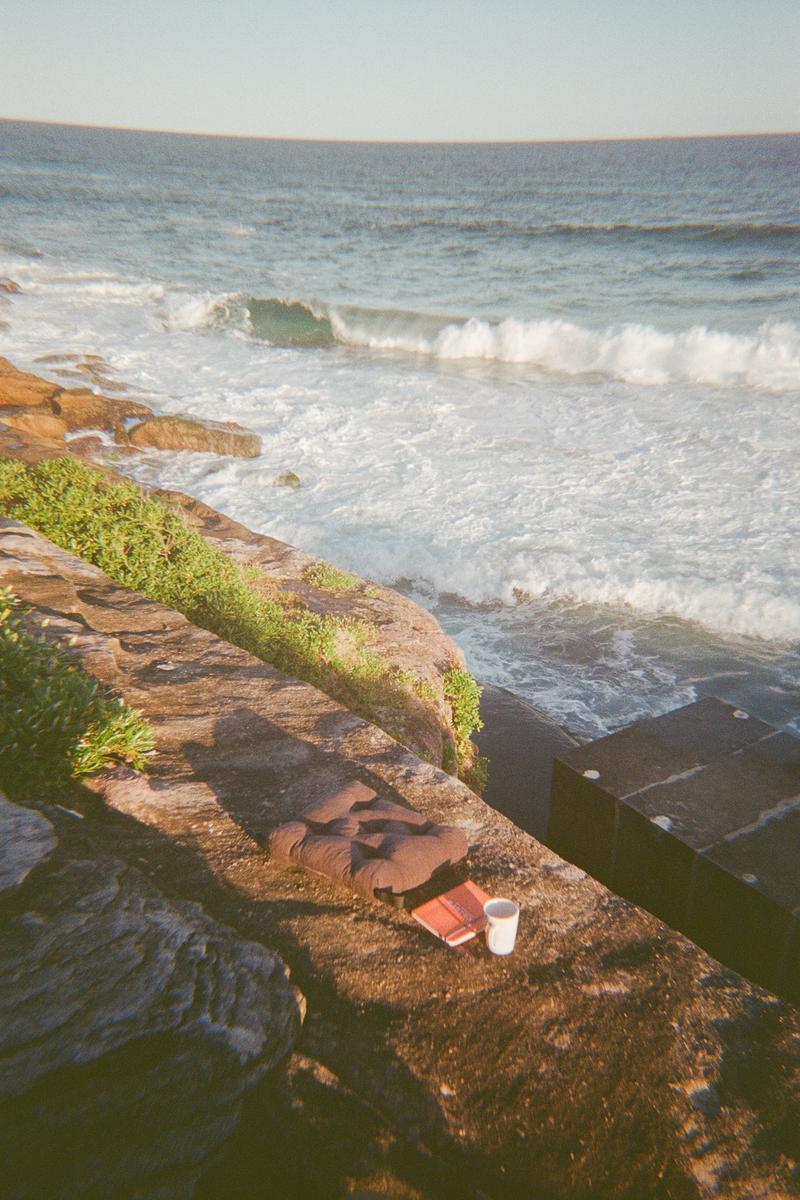 Sunrise meditation followed by morning coffee.