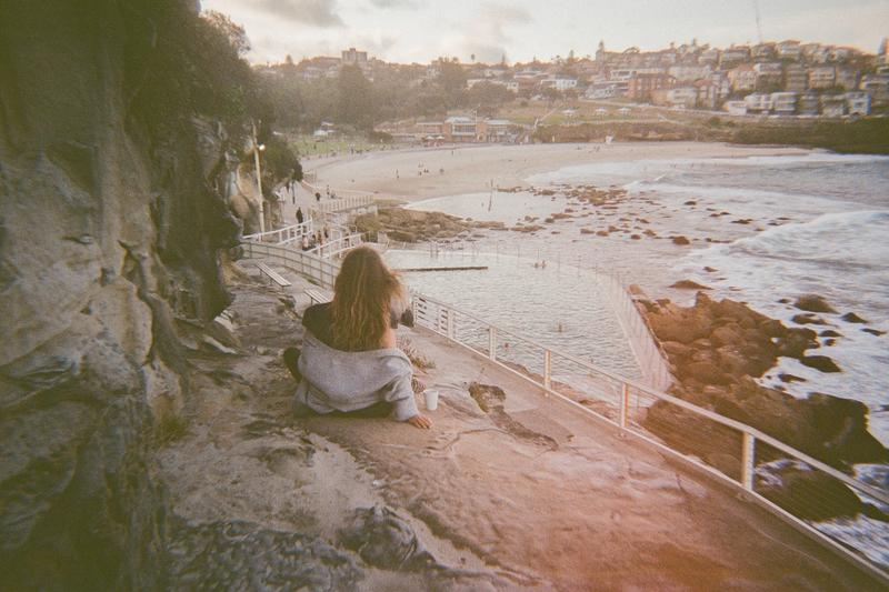 Post work coffee, golden hour near the rockpool in Bronte.