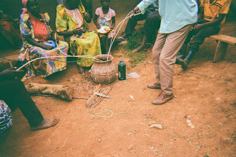 These people are wasting time drinking Mahura and it shows poverty in the area.