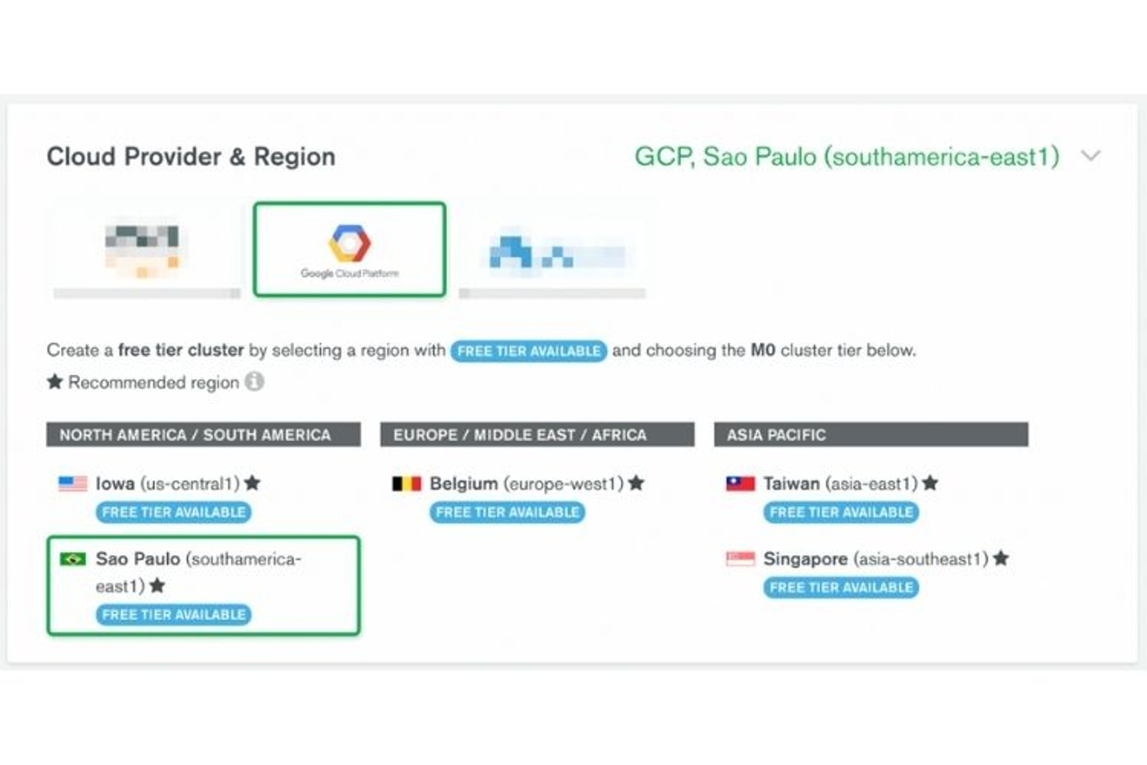 MongoDB Atlas permet de déployer un serveur MongoDB dans une infrastructure cloud chez AWS, GCP ou Azure