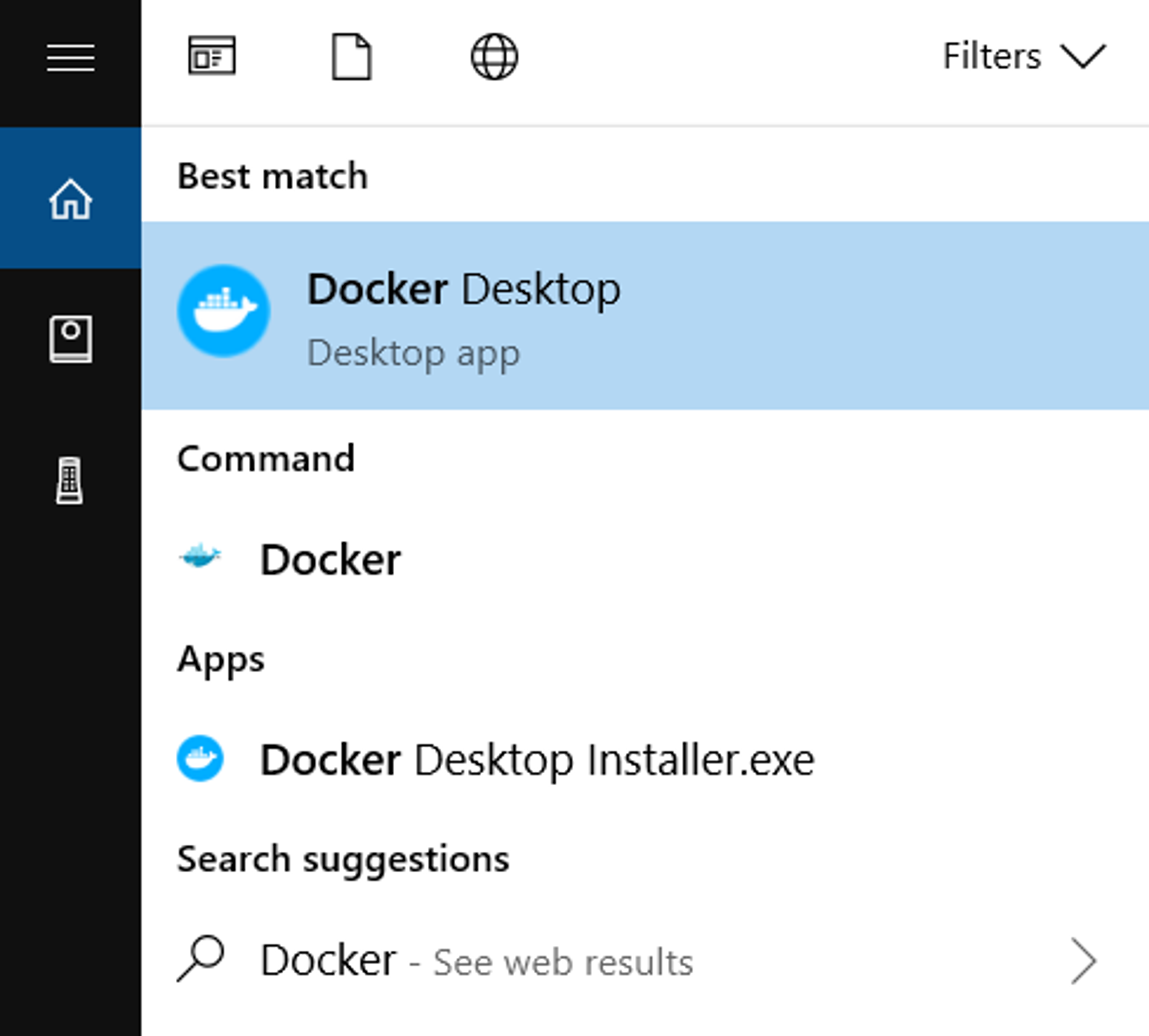 Lancer Docker Desktop depuis votre interface Windows