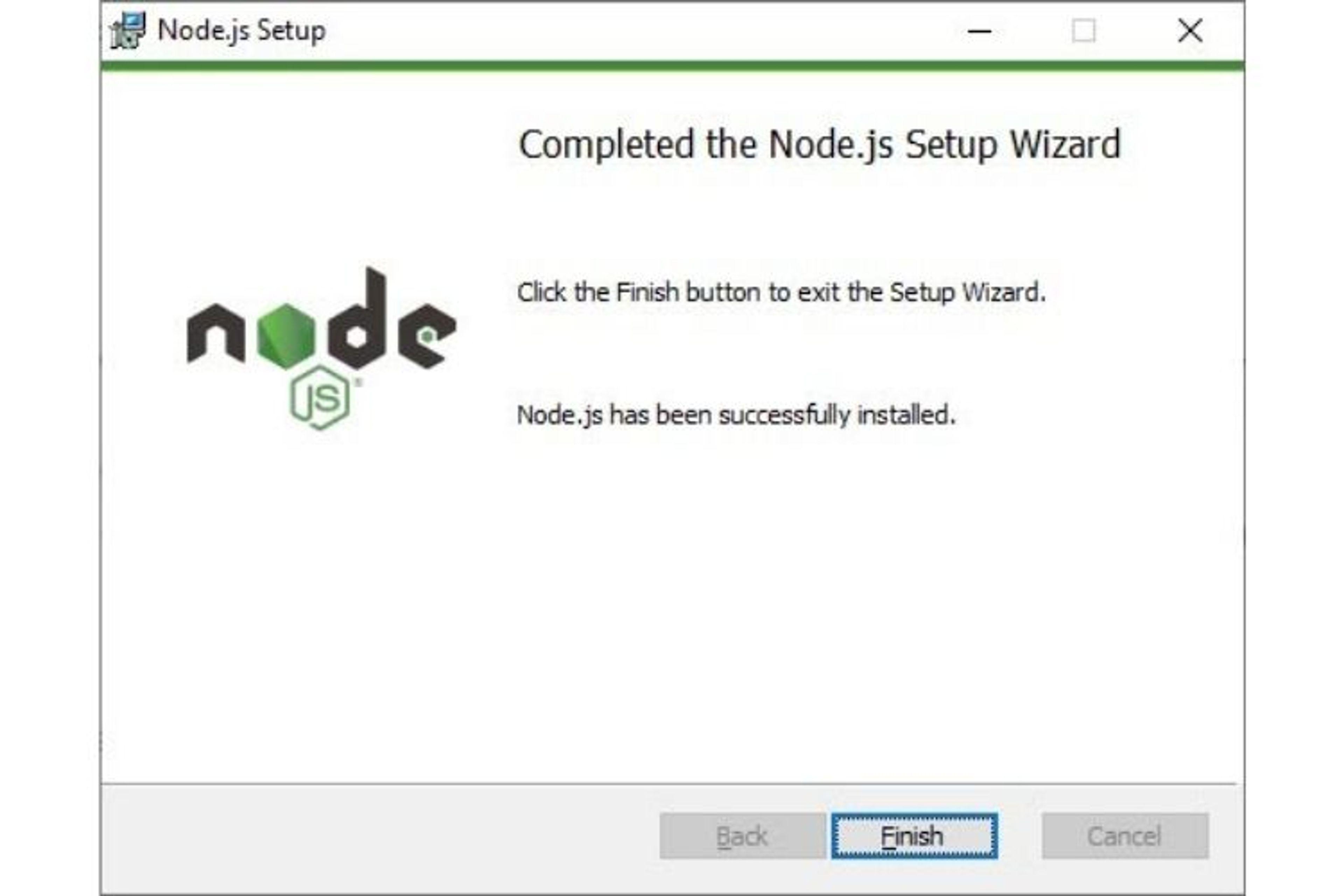 Installation node.js sur windows
