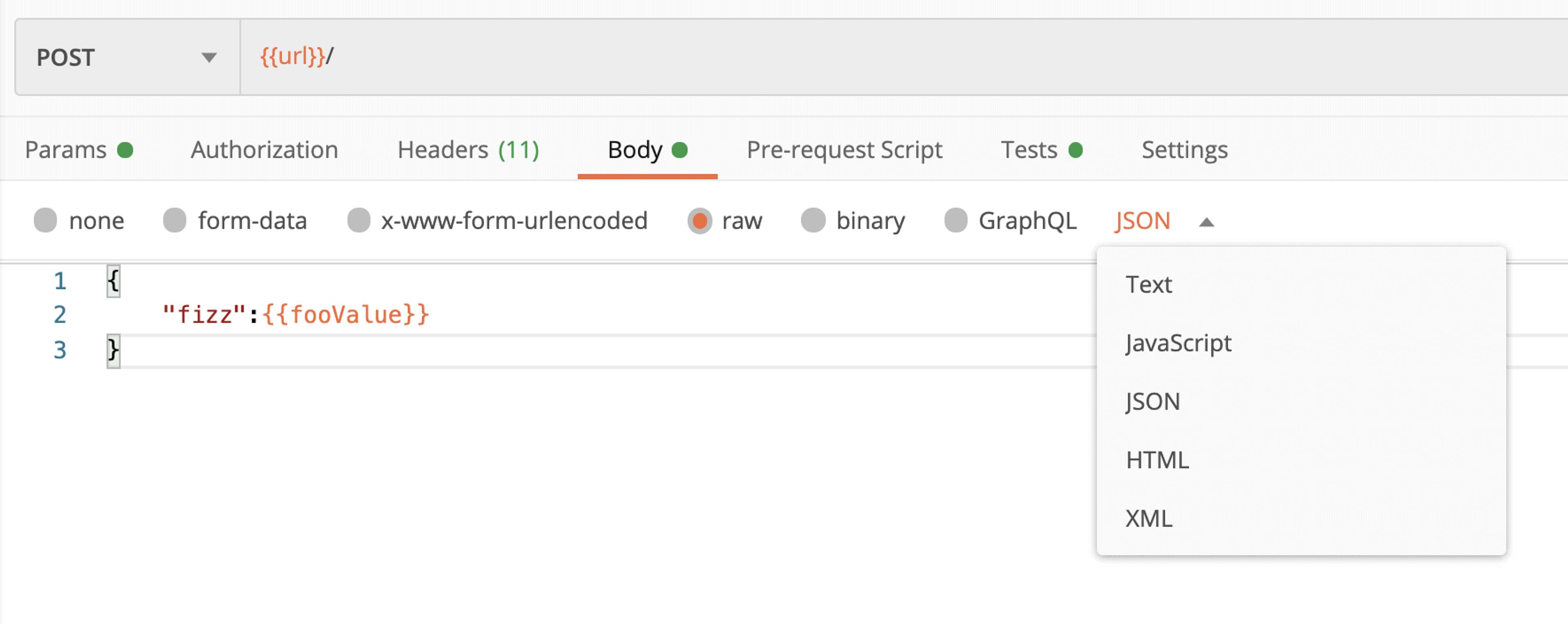 Le body d'une requête http sur Postman peut facilement être rempli avec différent types de données, comme du json, du xml ou du javascript par exemple