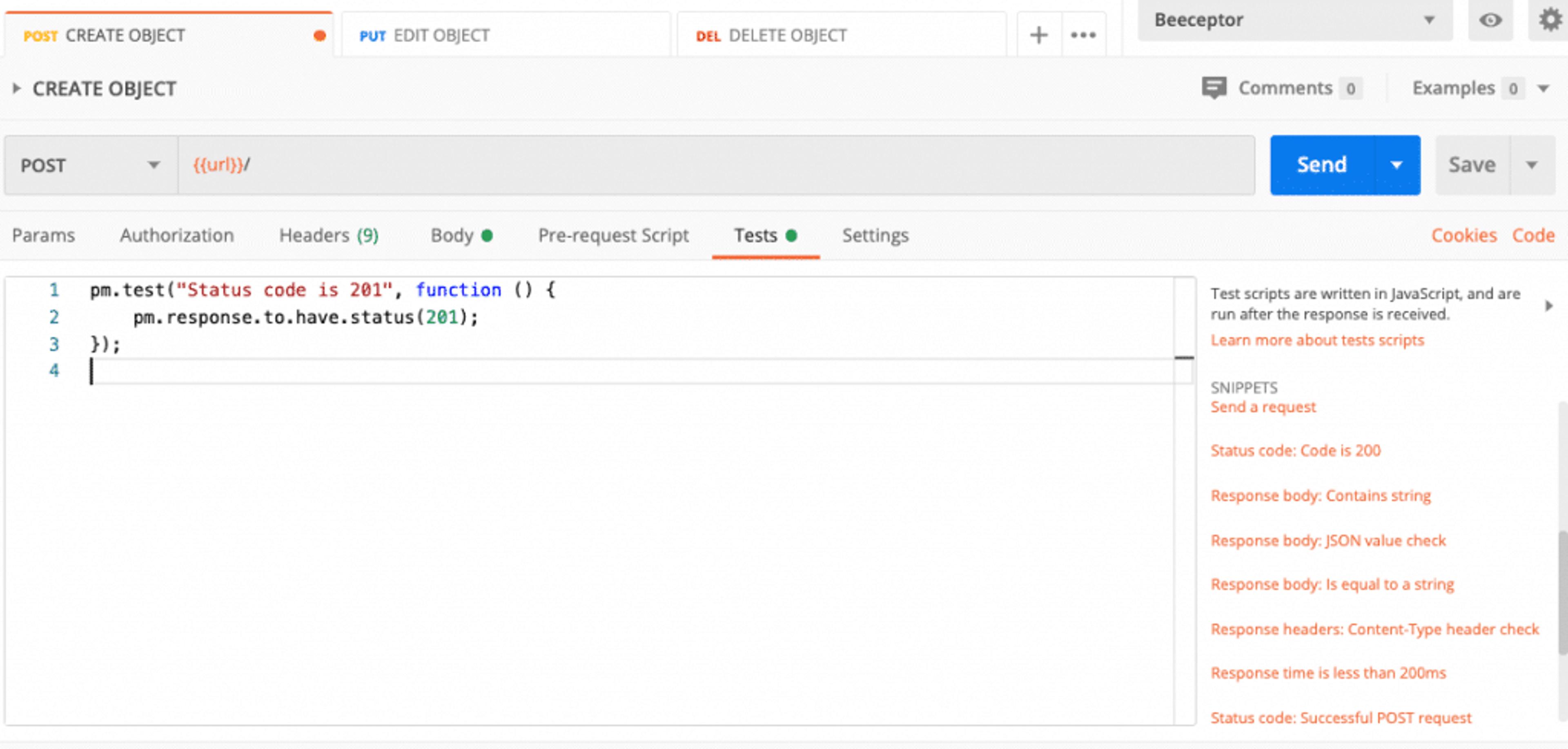 Exemple de test automatisé pour un test API via postman