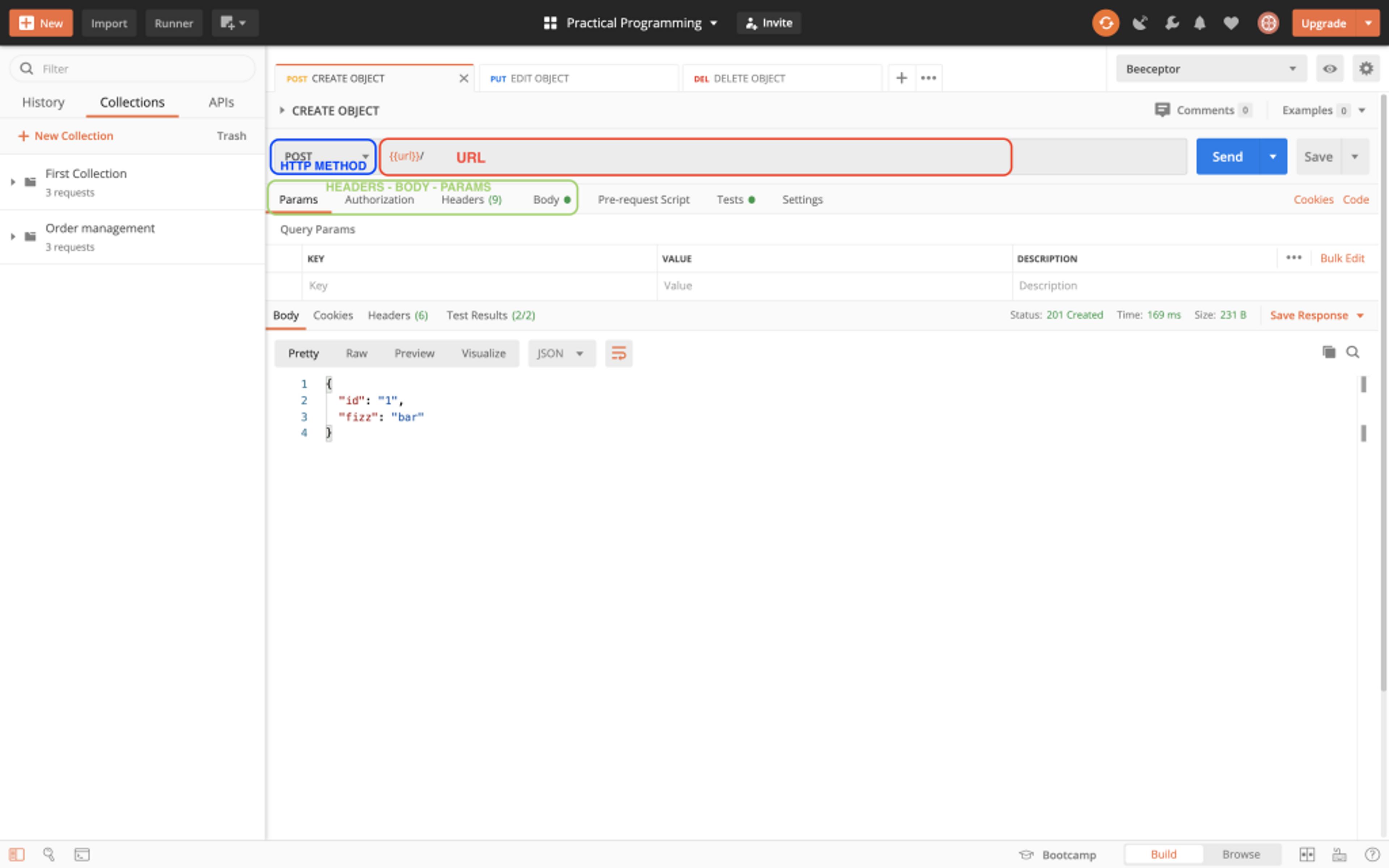 Postman permet d'effectuer des requêtes HTTP via une interface graphique