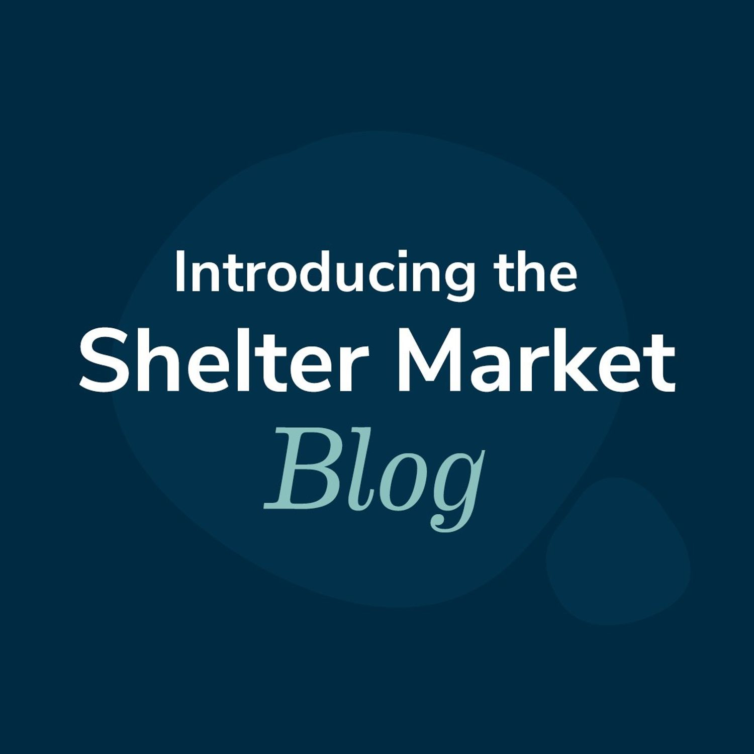 Introducing the Shelter Market Blog