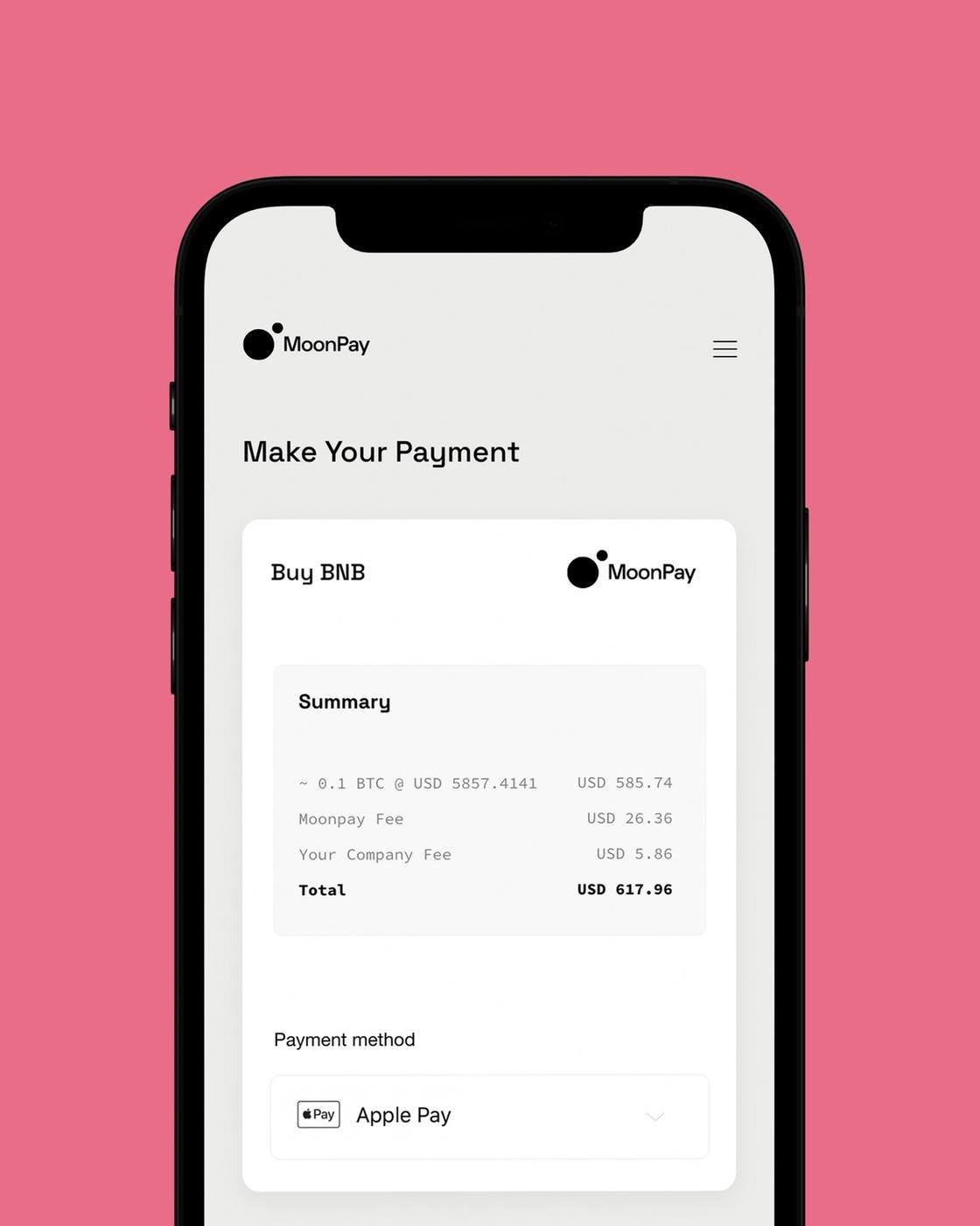 Moonpay iphone buyer