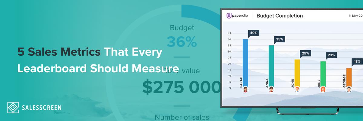 5 Sales Metrics Every Leaderboard Should Measure