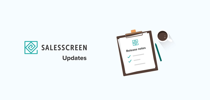 SalesScreen Updates & New Features