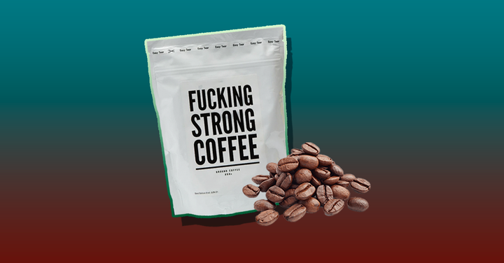 F*cking Strong Coffee is a complex 250g blend of Brazilian and Honduran Arabica Coffee, packed and roasted at its facilities in London