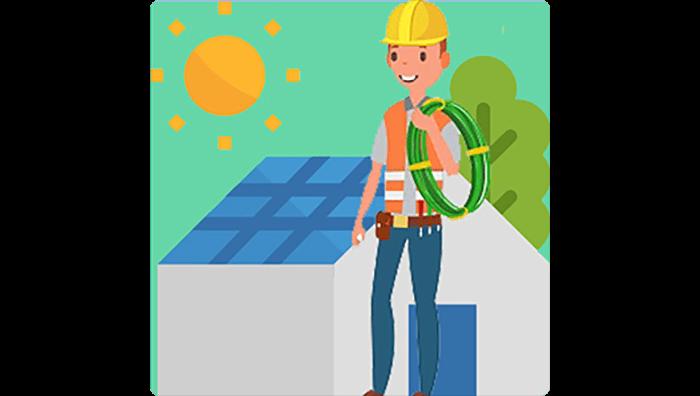 O que você precisa aprender no curso de energia solar - Área de instalação