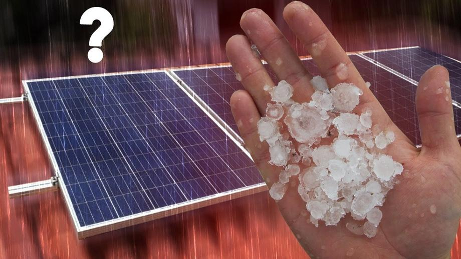 Painel solar SUPORTA chuva de GRANIZO?