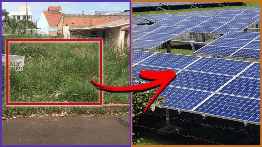 Instalamos Energia Solar em um Terreno Vazio