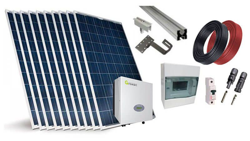 Fornecedores de kits fotovoltaicos para sistemas conectados (On-grid)