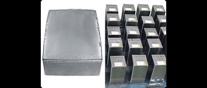 Bloco de silício policristalino - produção da célula fotovoltaica policristalina