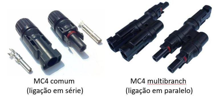 Conectores MC4 do painel solar fotovoltaico (módulo fotovoltaico)