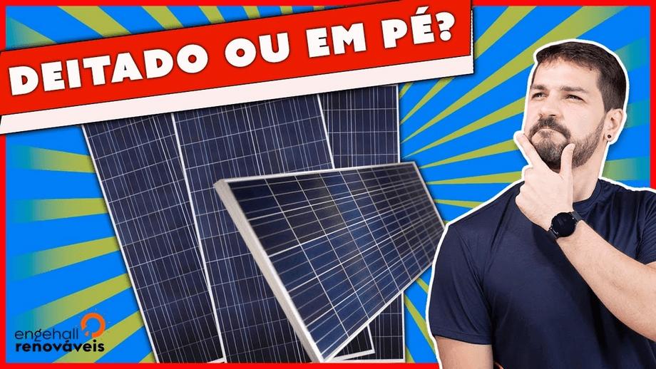 Painel instalado DEITADO gera MAIS ENERGIA do que em Pé?