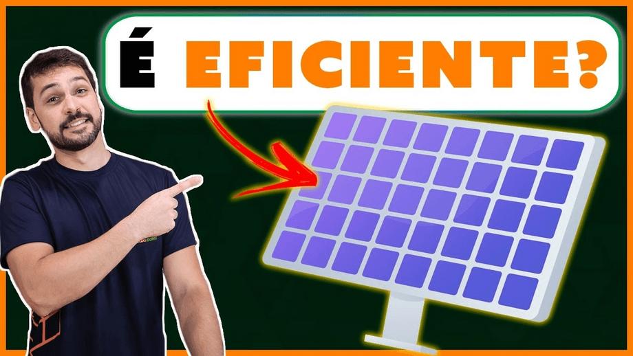 Como calcular a eficiência do painel solar
