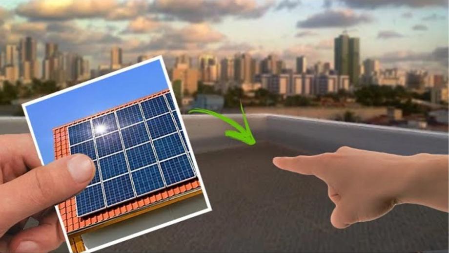 Posso instalar energia solar em um terreno vazio?