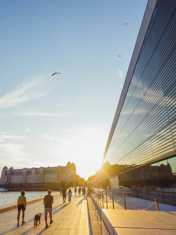 Oslo Opera Sunset | Art Lasovsky