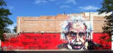 Imagination Is More Important Than Knowledge Einstein Mural