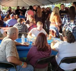 VIP Tasting Tent Crowd