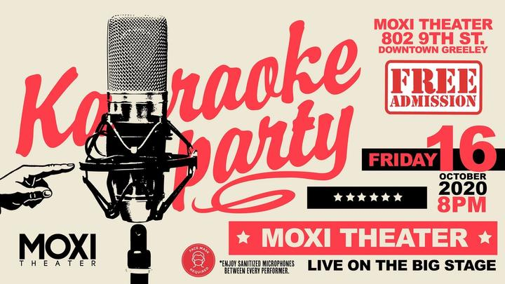Karaoke Party (with Sanitized Mics & Free Admssion) at the Moxi Theater