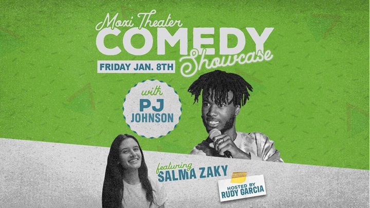 Moxi Theater Comedy Showcase with PJ Johnson and Salma Zaky