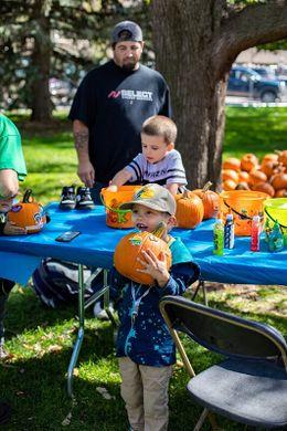 Kid's World Pumpkin Decorating